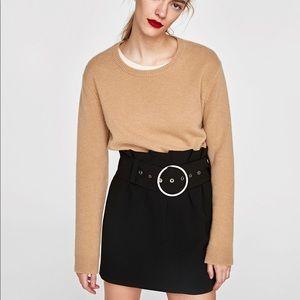 ZARA Studio Mini Skirt with Buckle Belt